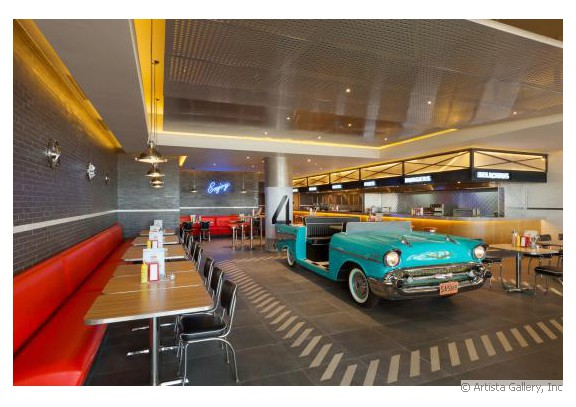 Hyatt Ziva Cancun Chevy's Diner by NewRetroDesign.com