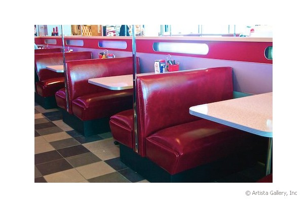 Daddy's Diner in Tempre, Finland booth seating